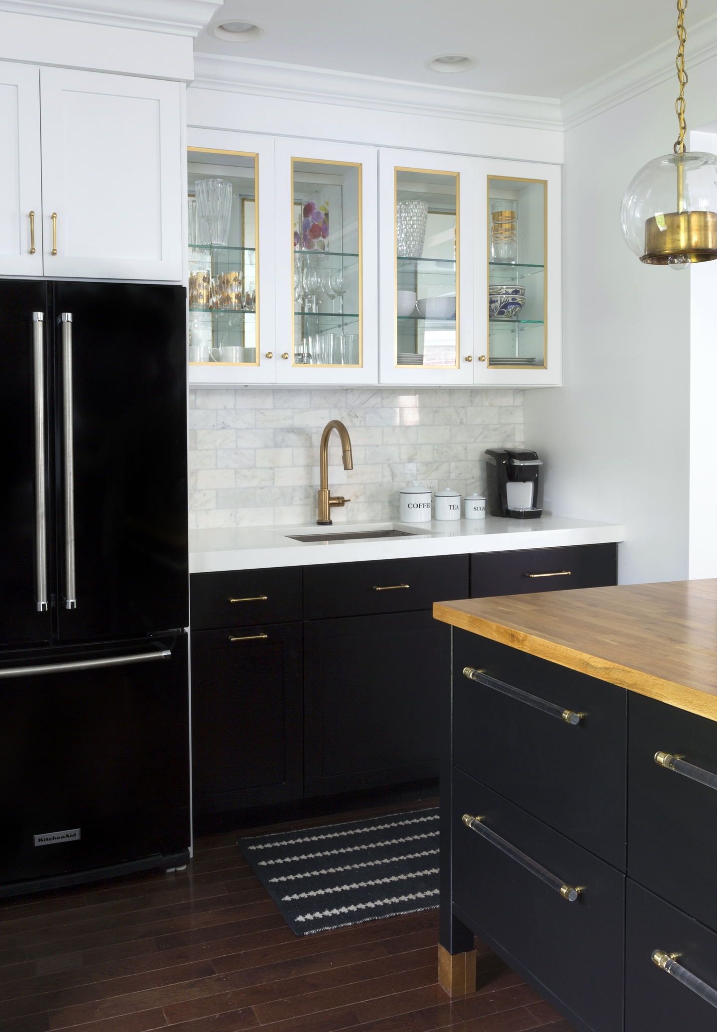 Permalink to Black Kitchen Cabinets Gold Hardware