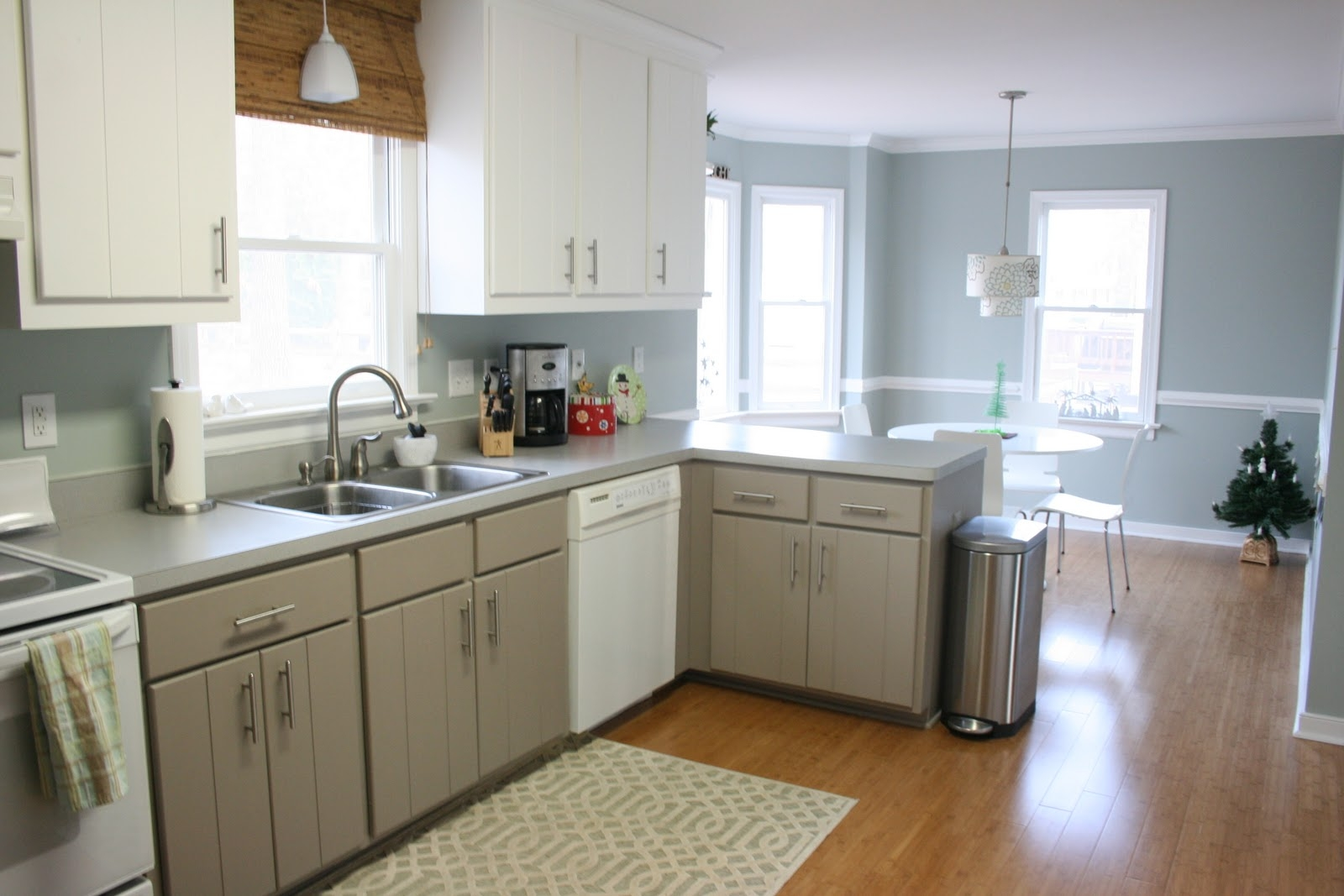 Permalink to Blue Gray Kitchen White Cabinets