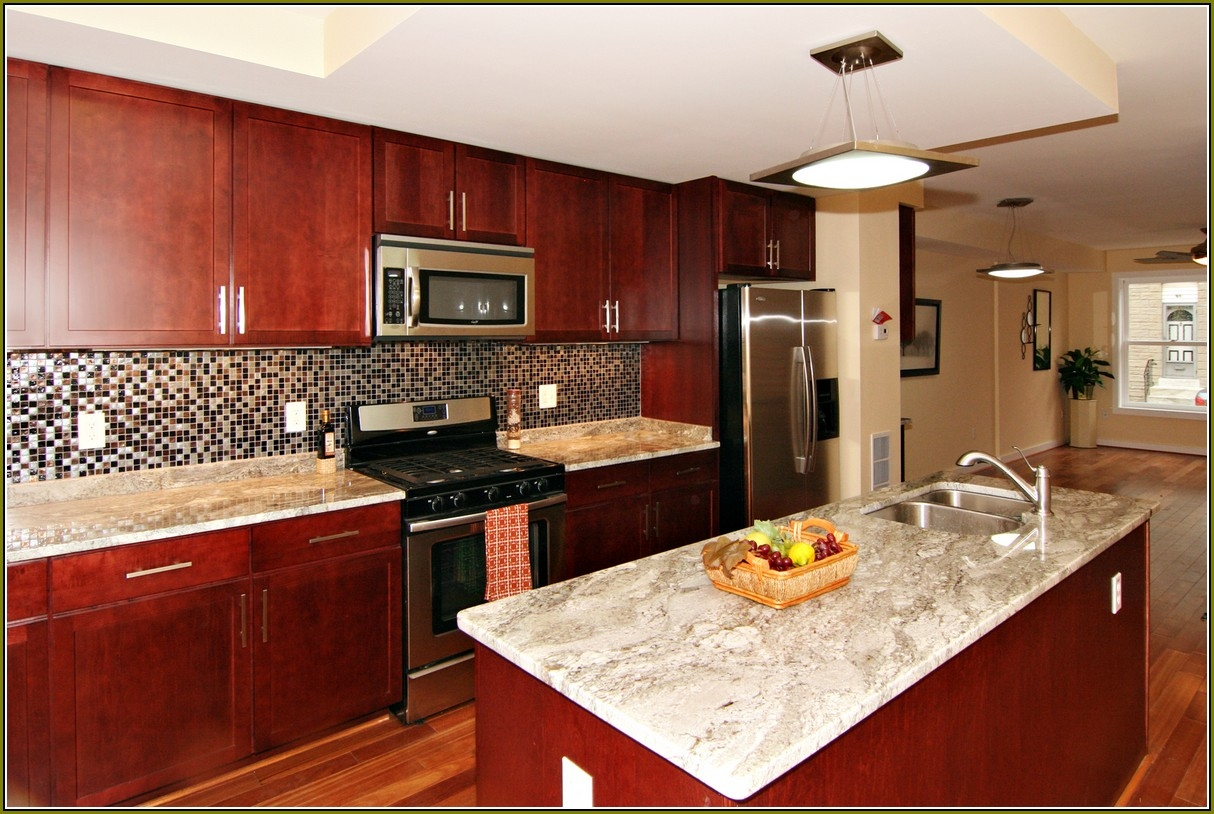 Permalink to Cherry Kitchen Cabinets And Granite Countertops