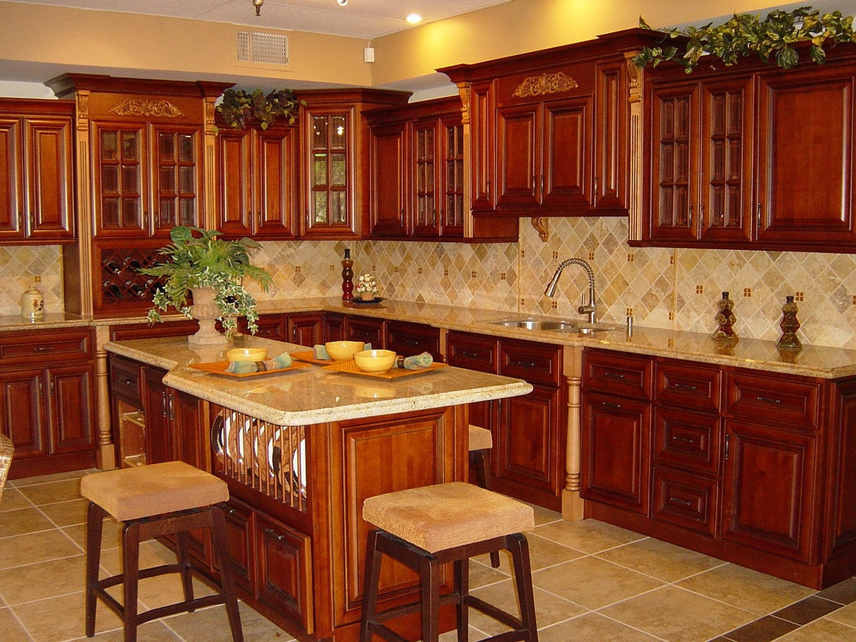 Clear Cherry Kitchen Cabinets