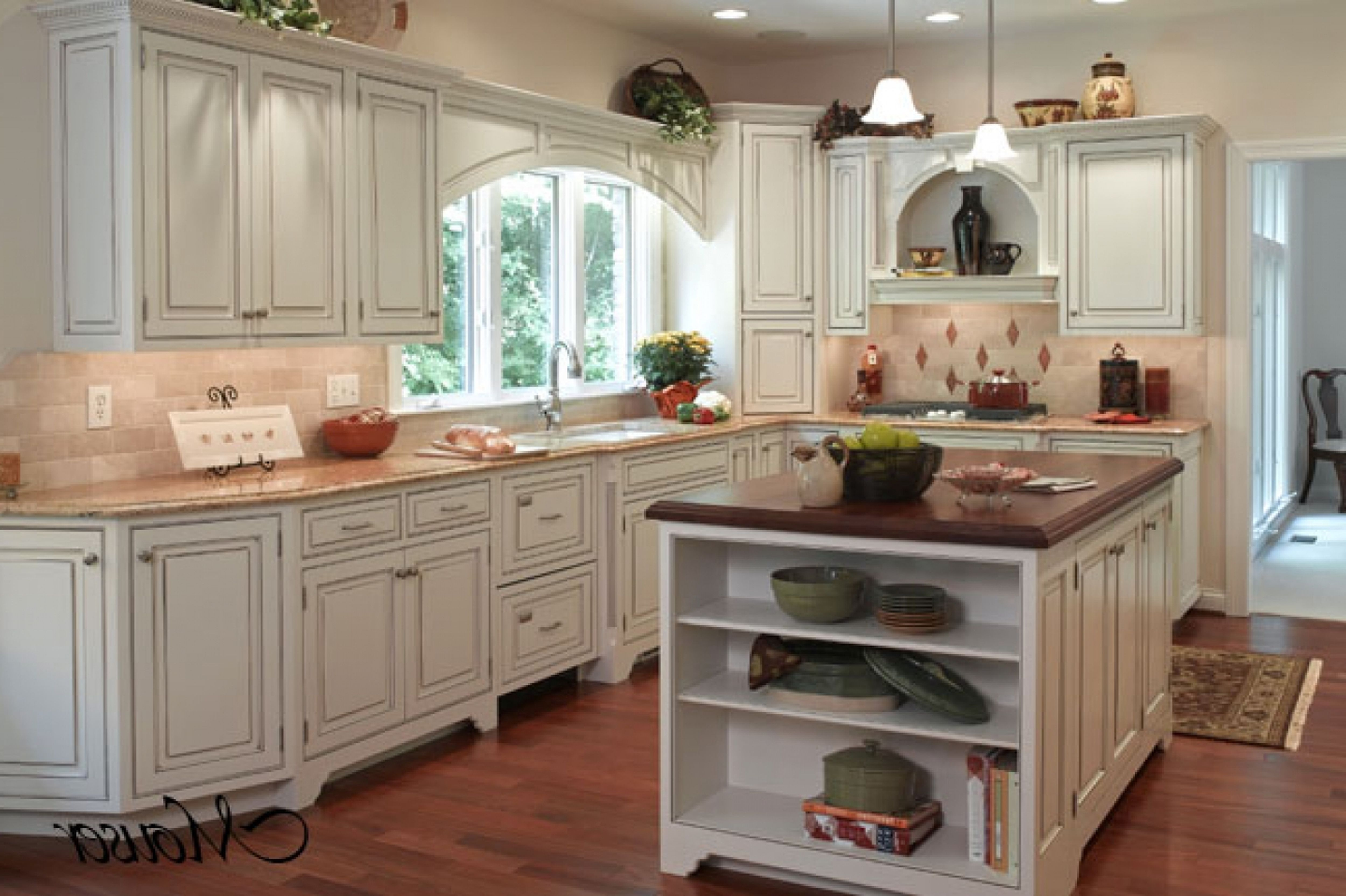 Country French Cabinets For Kitchen