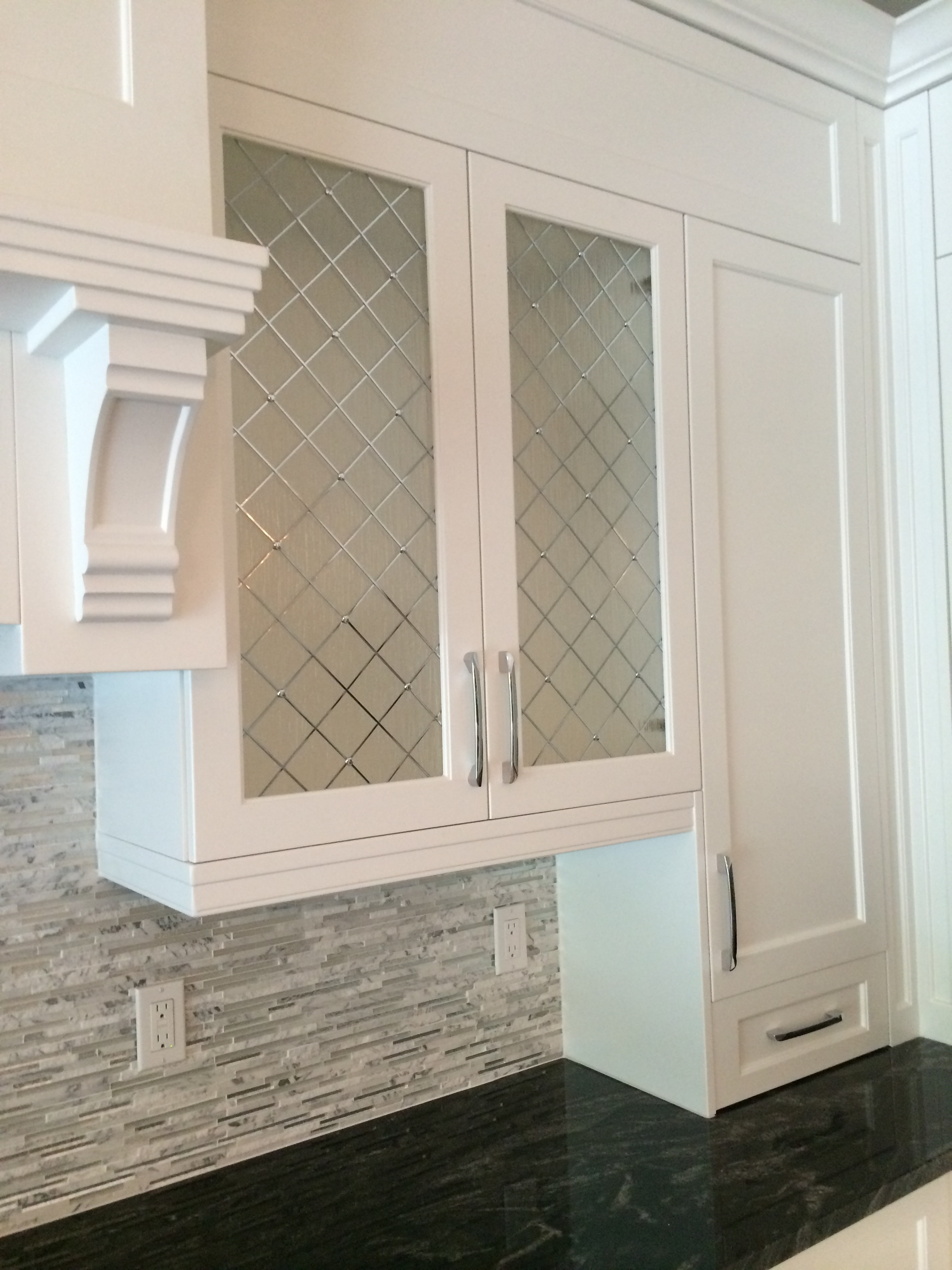 Decorative Glass Inserts For Kitchen Cabinets