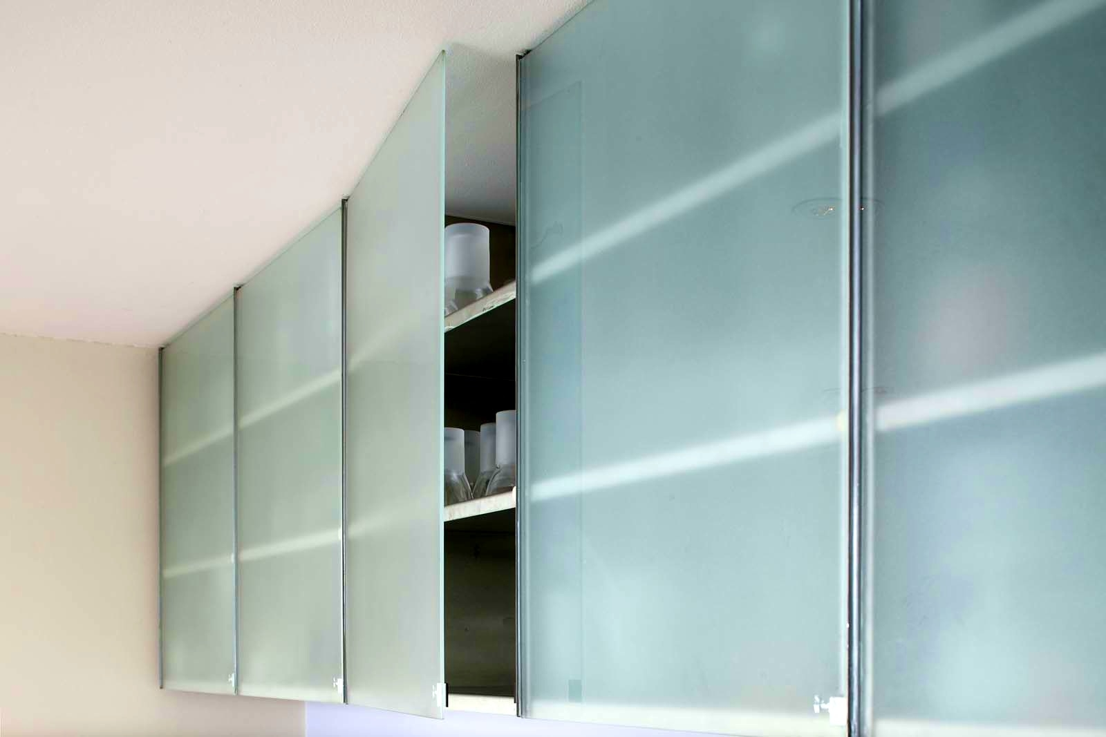 Permalink to Frameless Frosted Glass Kitchen Cabinet Doors