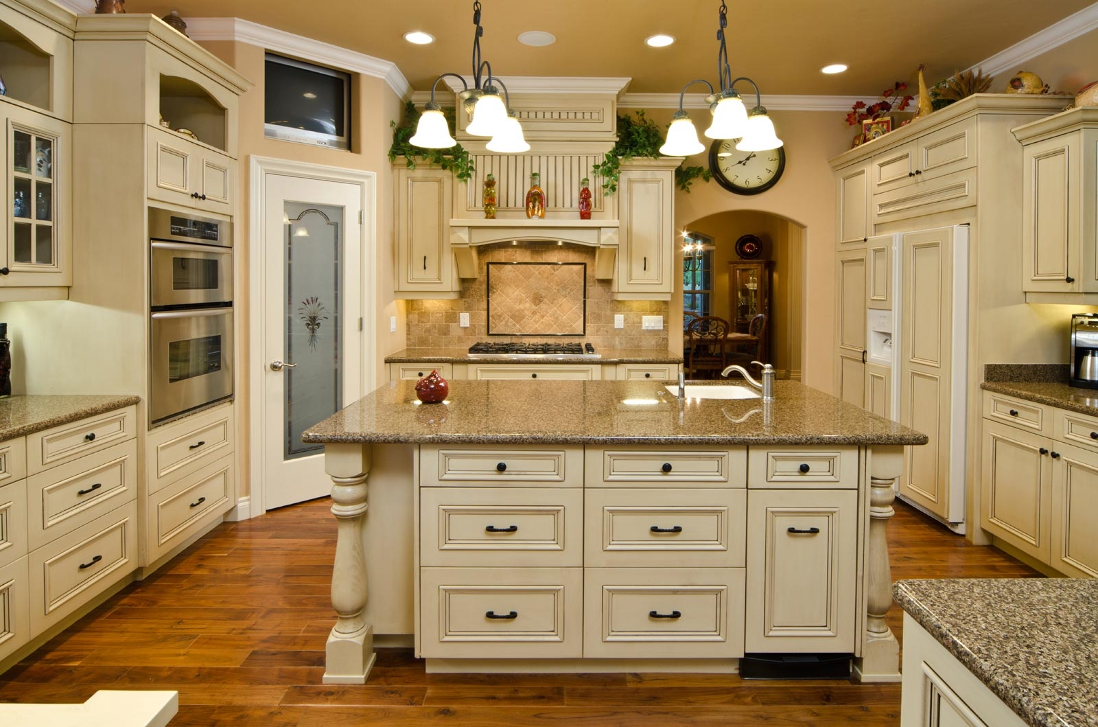 French Country White Kitchen Cabinets