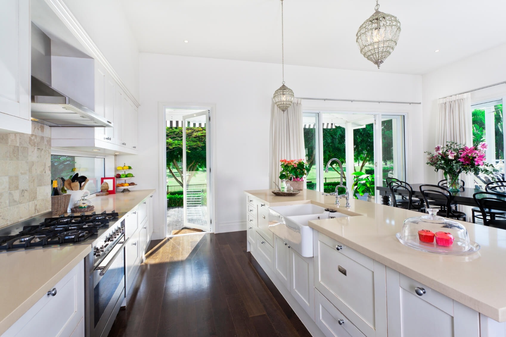 Permalink to Galley Kitchen Designs With White Cabinets
