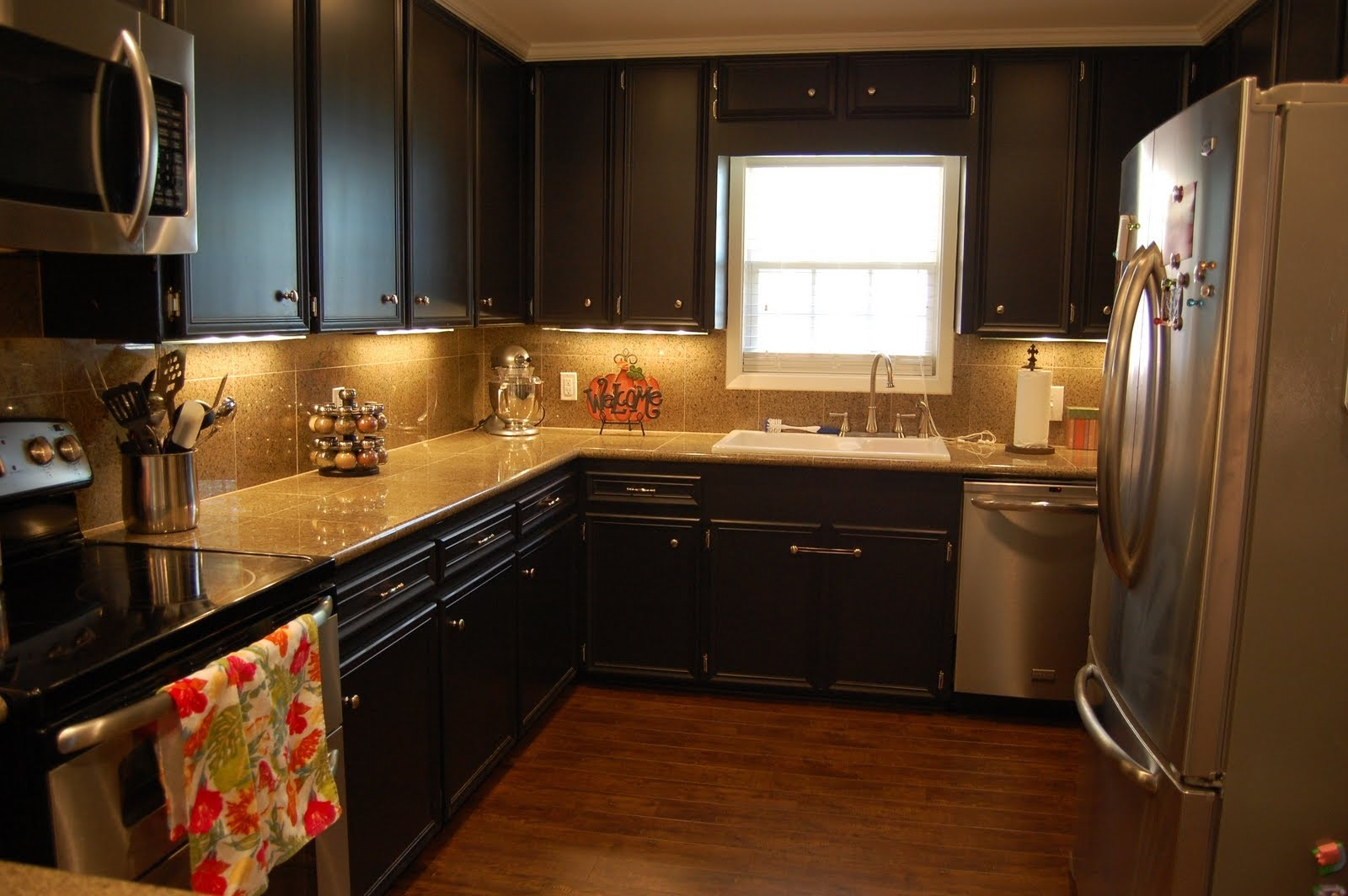 Kitchen Cabinet Brown Colors