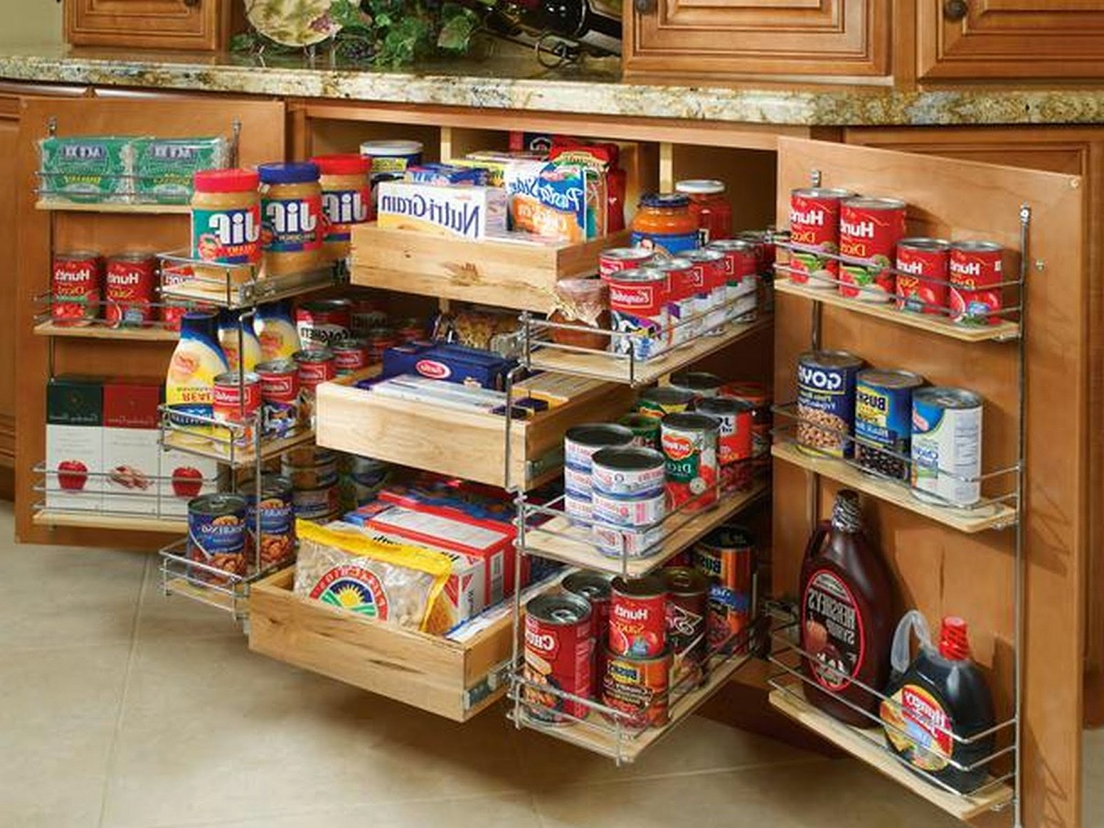 Permalink to Kitchen Cabinet Food Storage