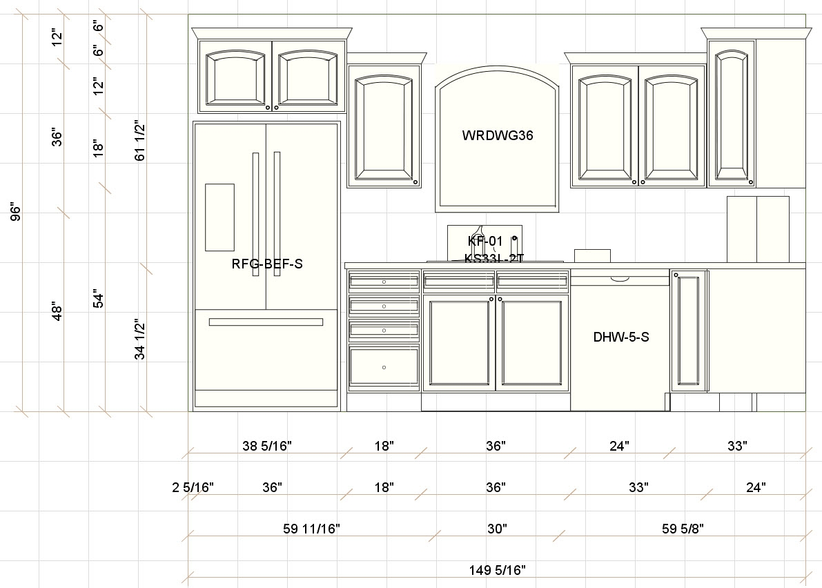 Kitchen Cabinet Height From Floor1191 X 852