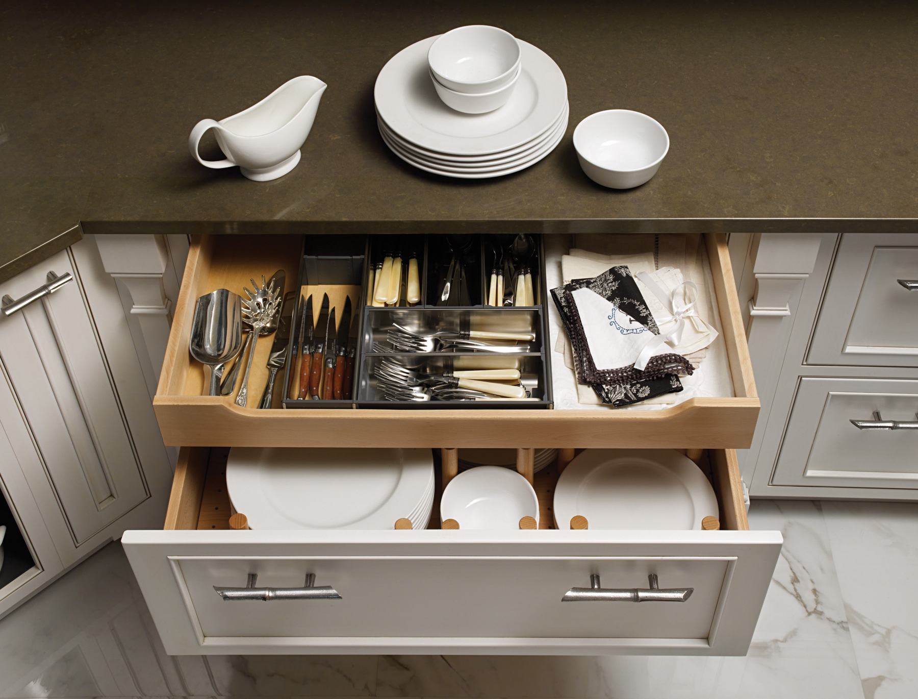 Permalink to Kitchen Cabinet Plate Drawer