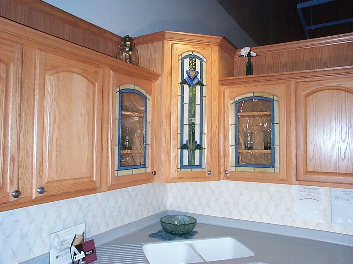 Kitchen Cabinet Stained Glass
