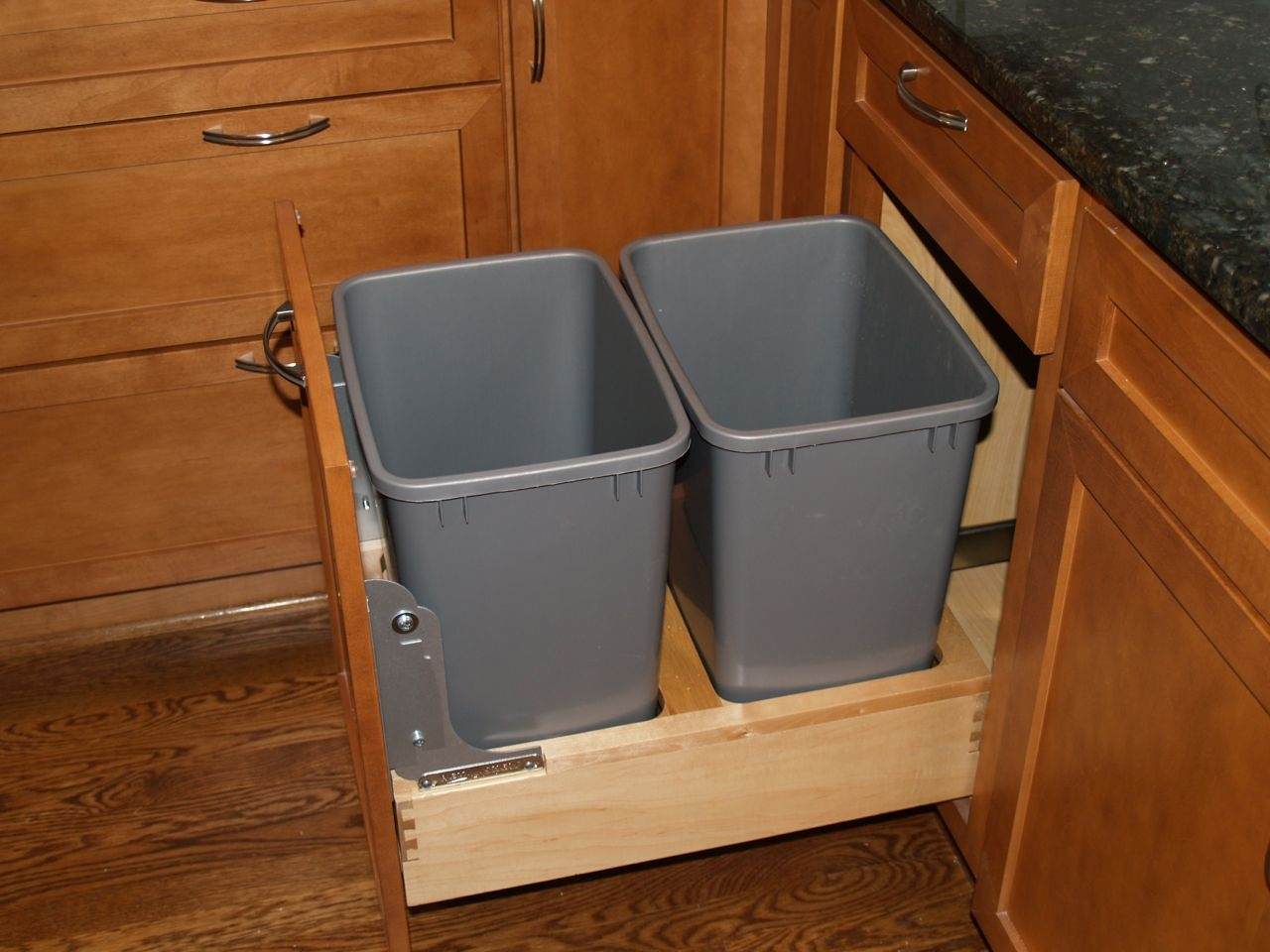 Permalink to Kitchen Cabinet Trash Can