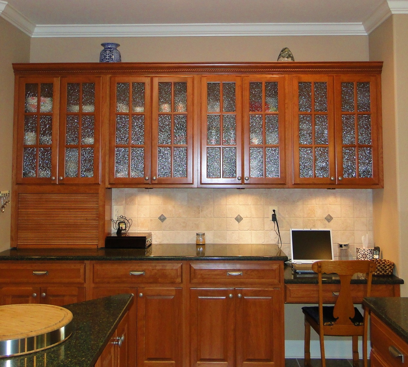 Permalink to Kitchen Cabinets Glass Front