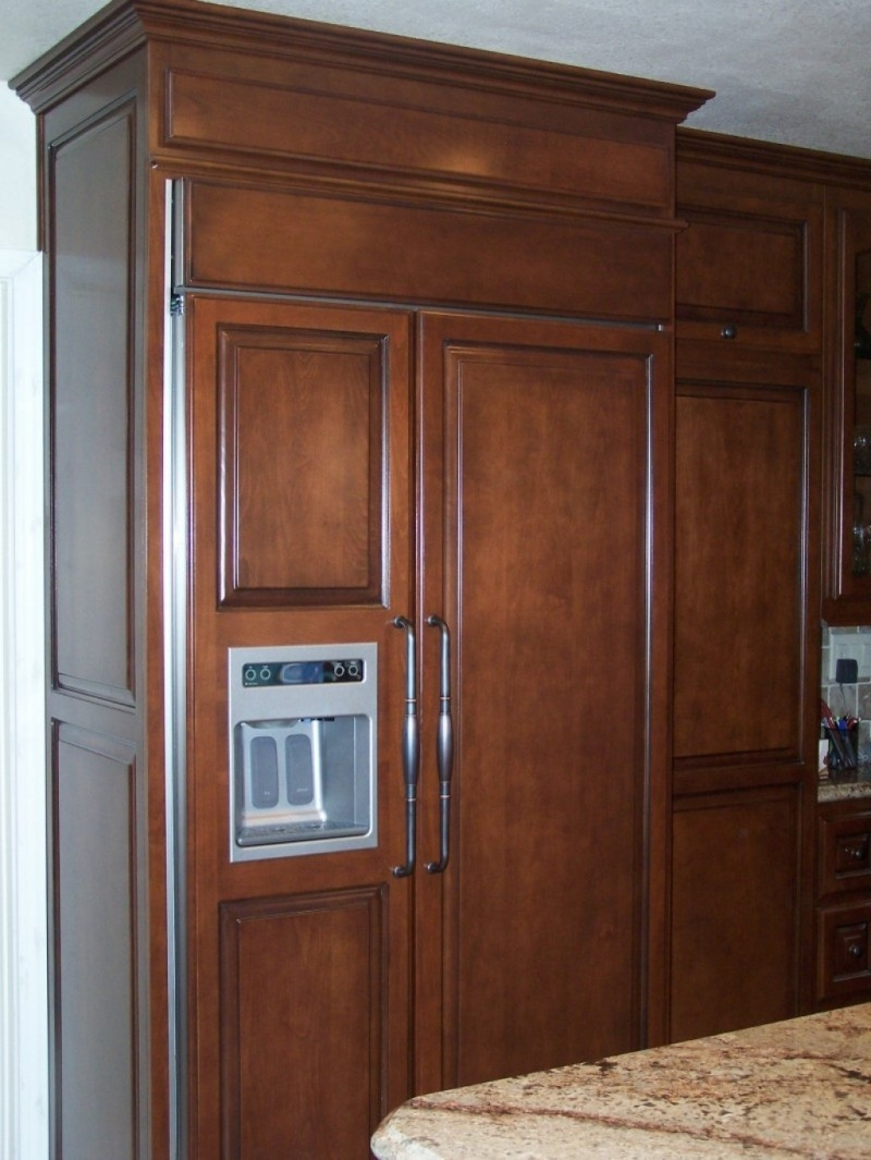 Permalink to Kitchen Cabinets Refrigerator Panels