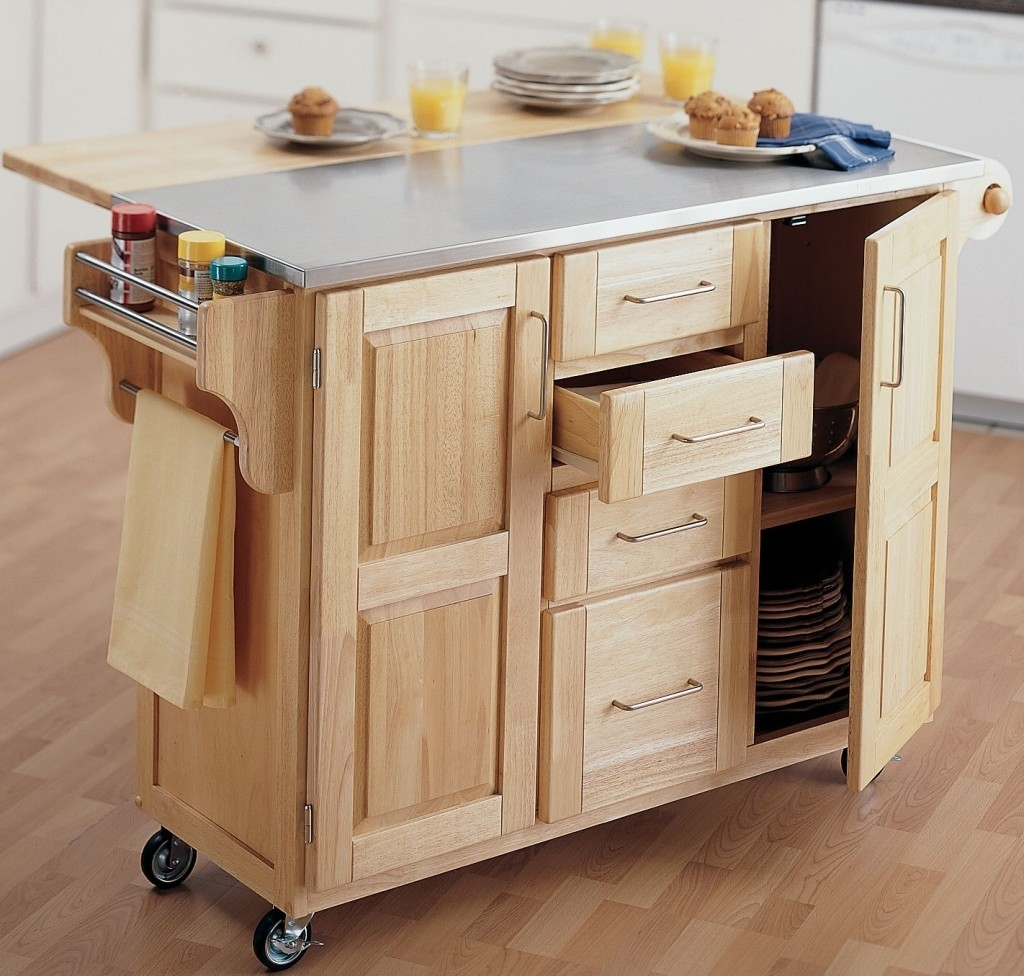 Kitchen Island Cart With Cabinets