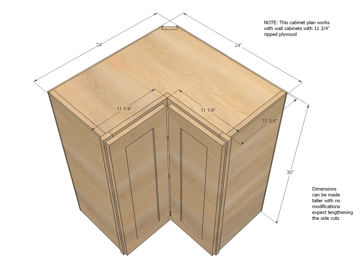 Kitchen Wall Corner Cabinet Sizes