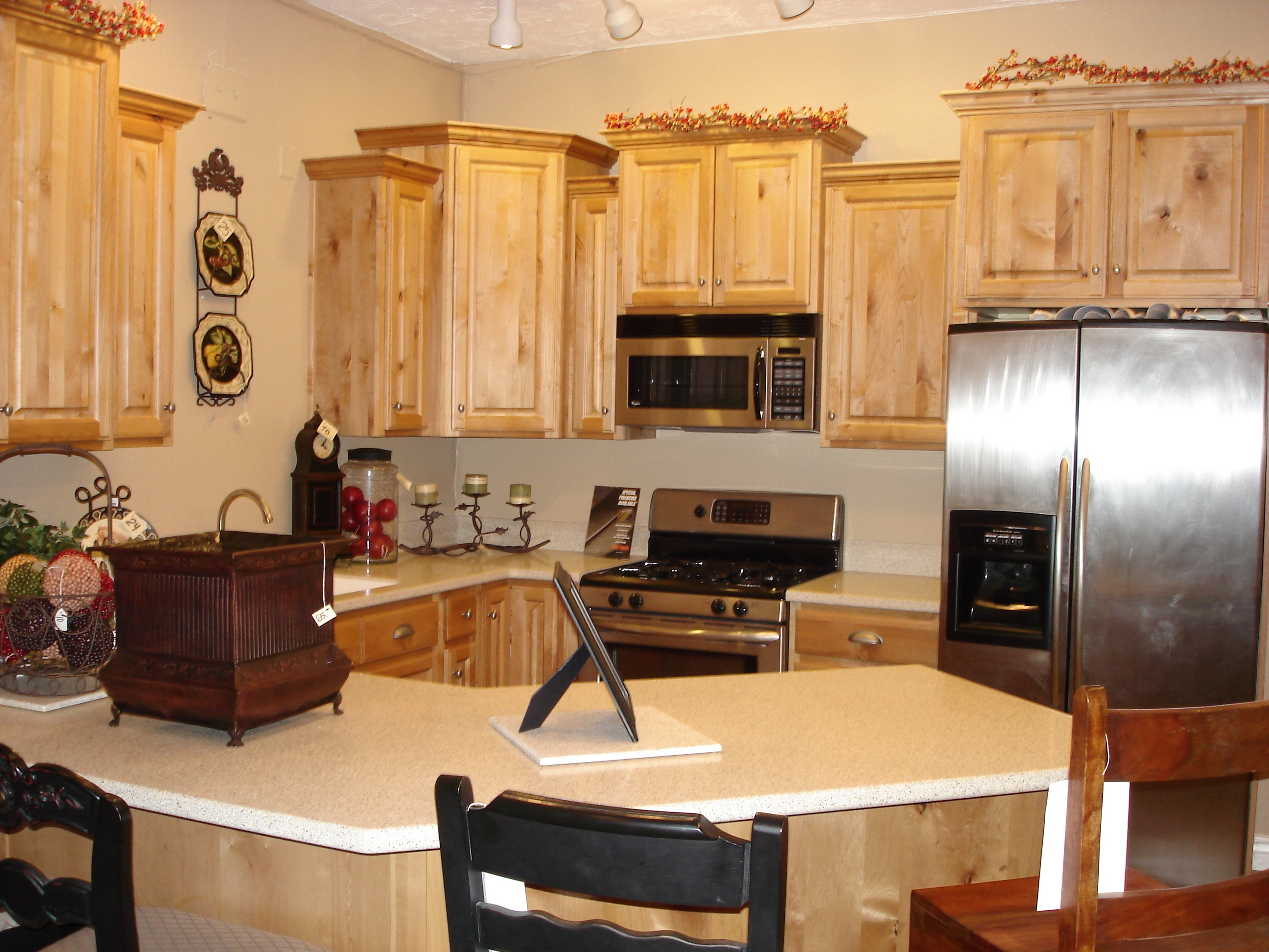 Knotty Cedar Kitchen Cabinets