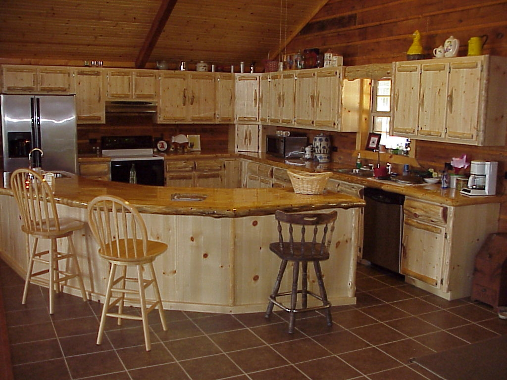 Log Cabin Style Kitchen Cabinets