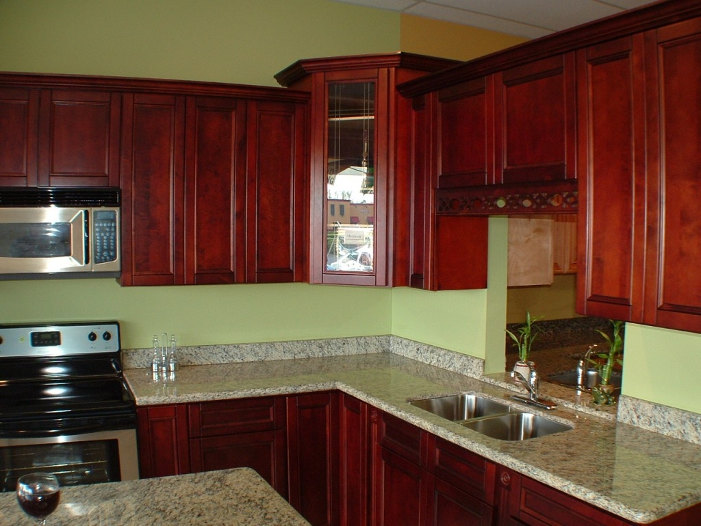 Merlot Cherry Kitchen Cabinets