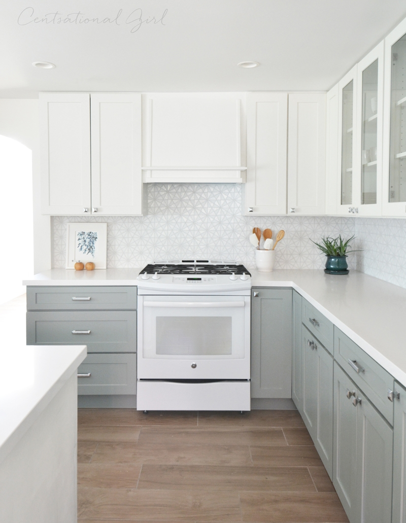 Pictures Of Grey Kitchen Cabinets With White Appliances