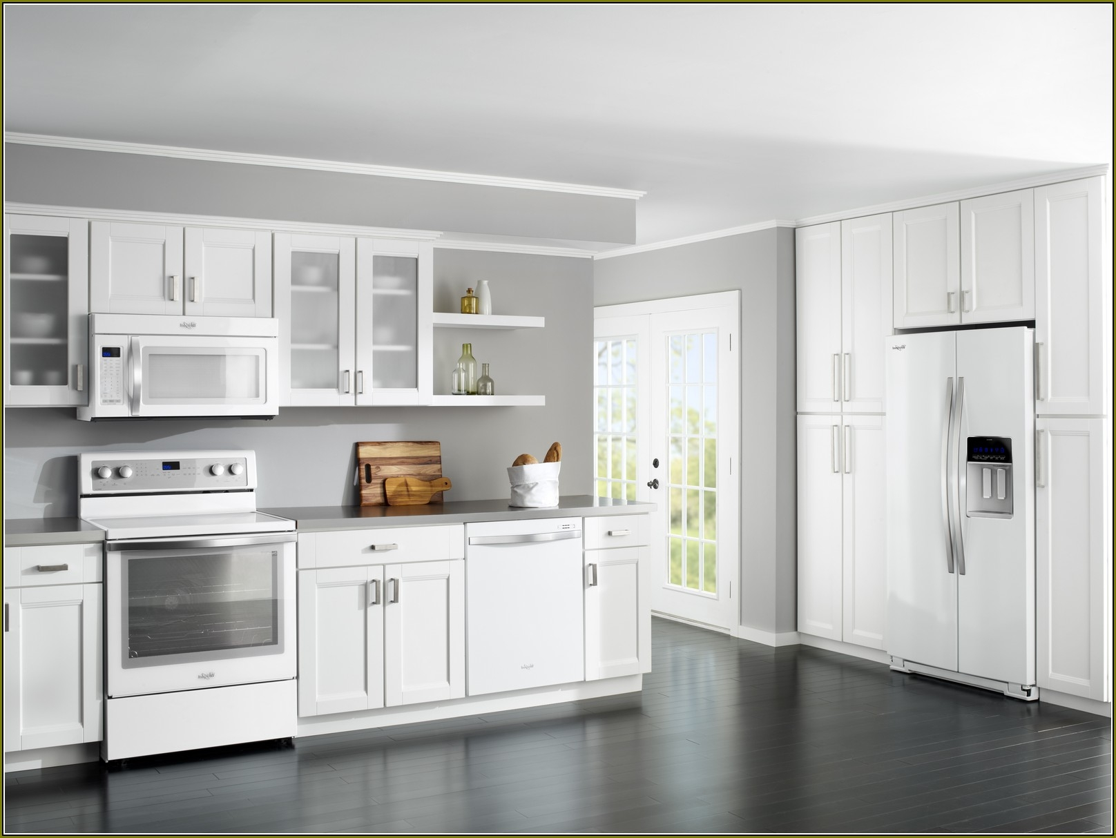 Permalink to Pictures Of White Kitchen Cabinets With White Appliances