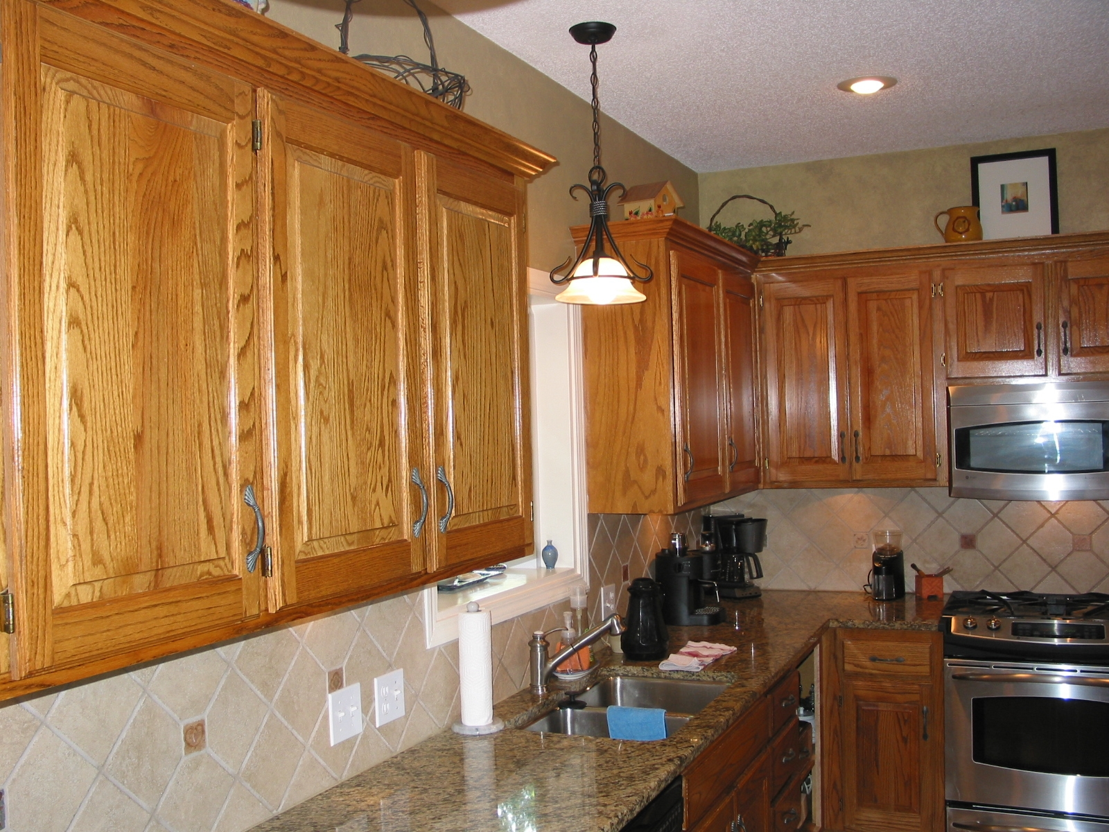 Permalink to Restain Kitchen Cabinets Lighter Color