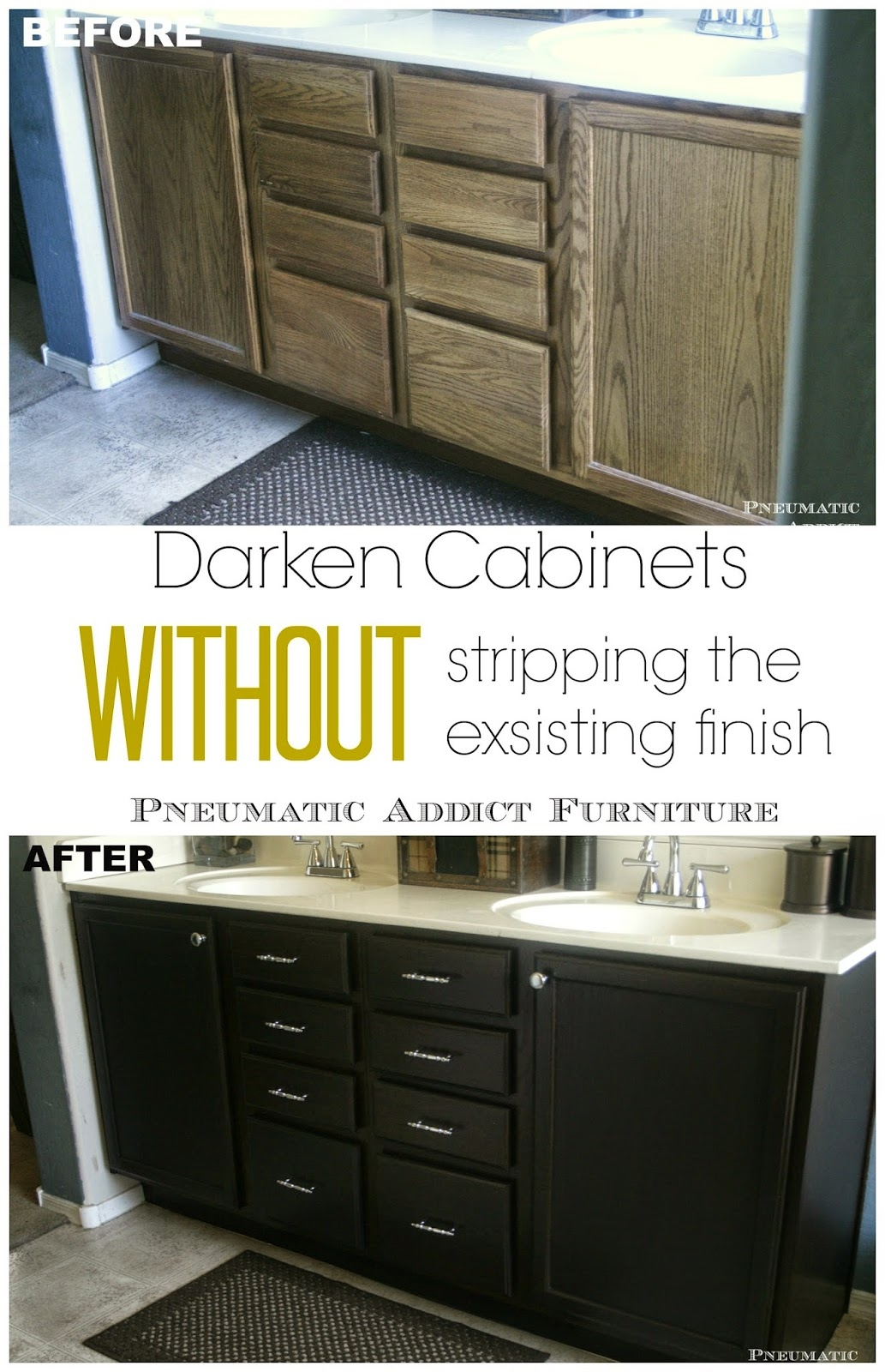 Sanding And Staining Old Kitchen Cabinets