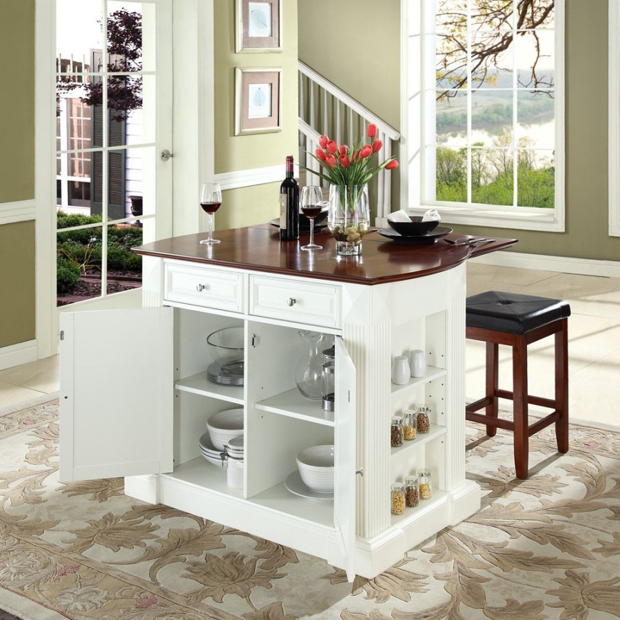 Small Kitchen Island With Cabinets And Seating