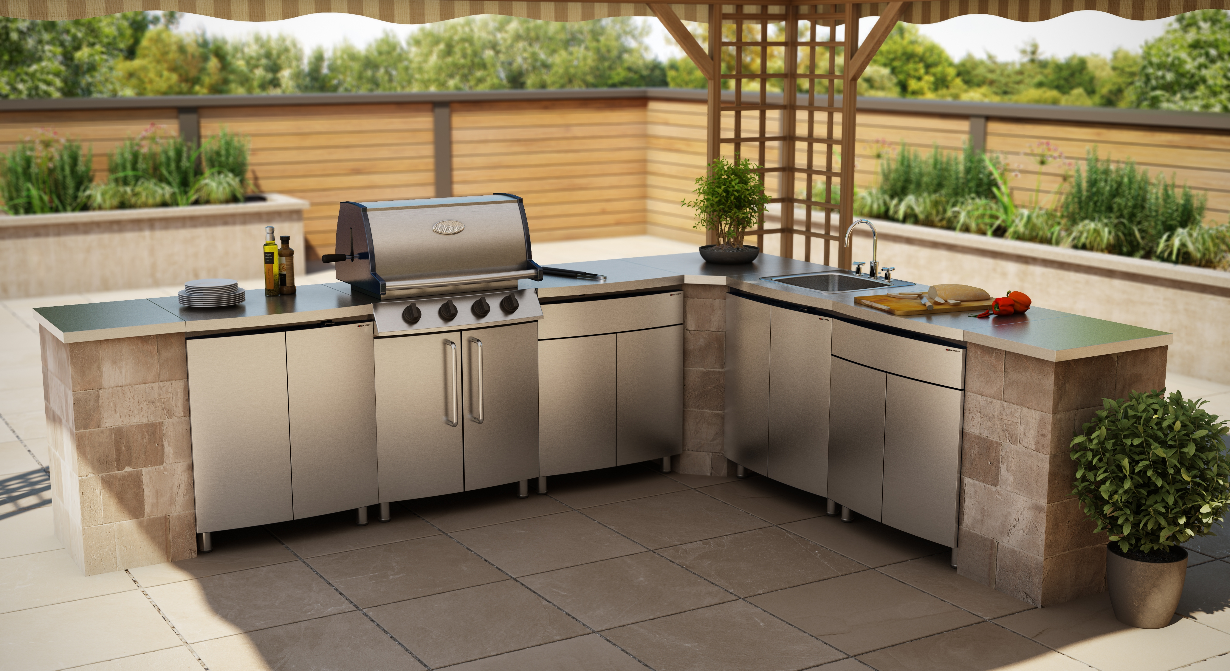 Stainless Steel Exterior Kitchen Cabinets