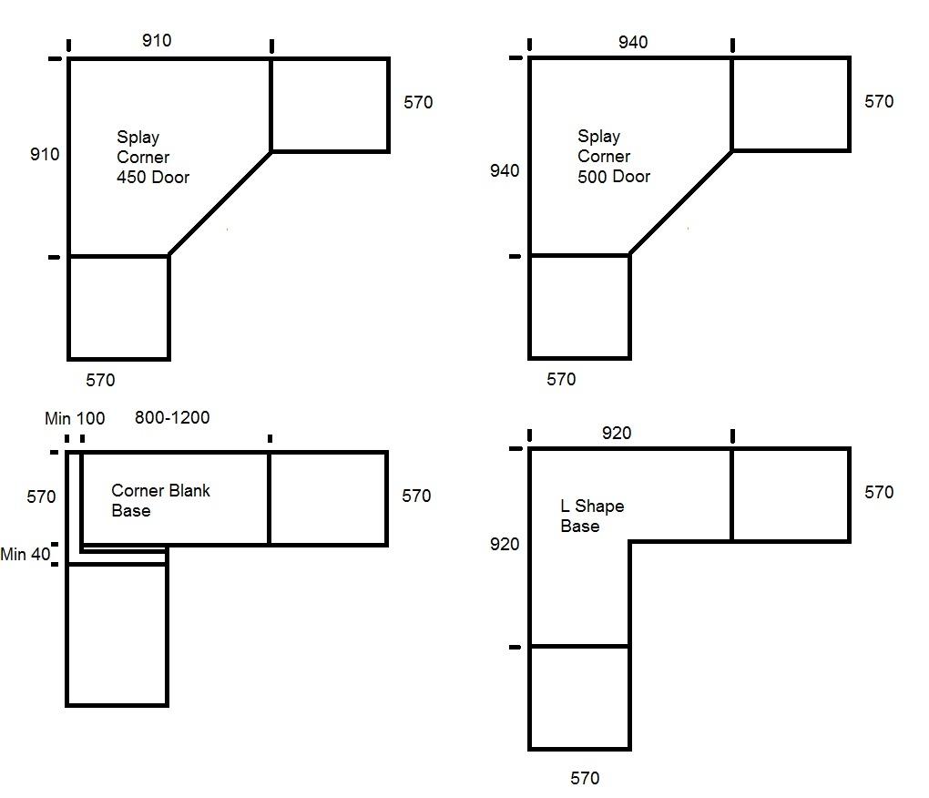 Standard Sizes For Upper Kitchen Cabinets1020 X 876