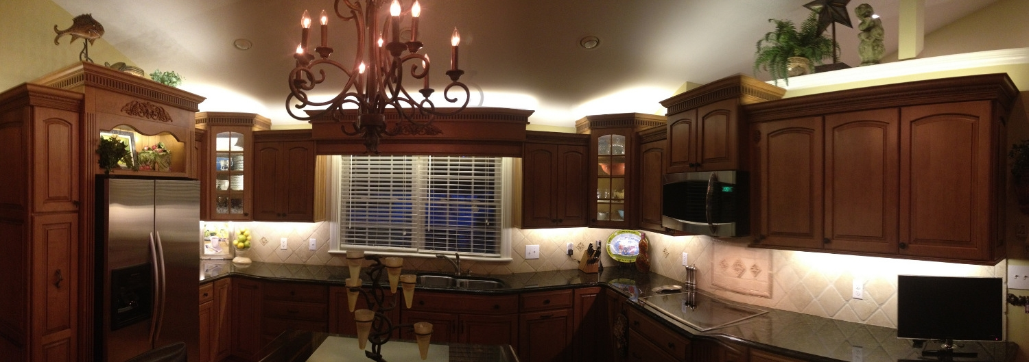 Permalink to Twinkle Lights Above Kitchen Cabinets