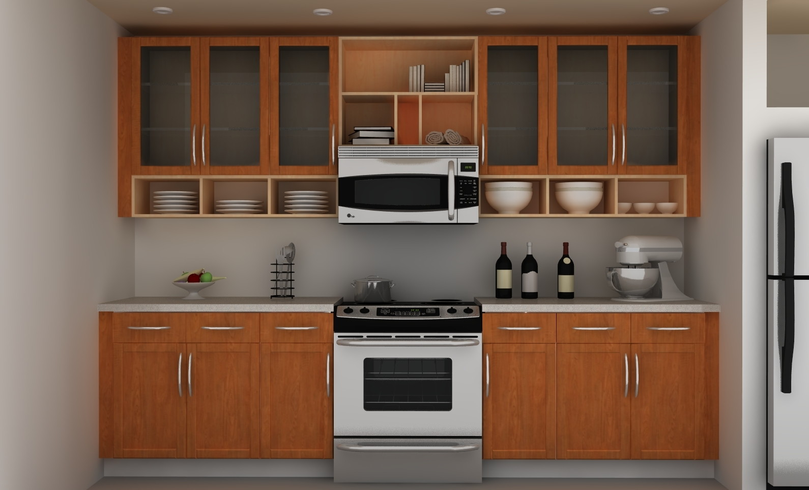 Wall Cabinet Kitchen Design