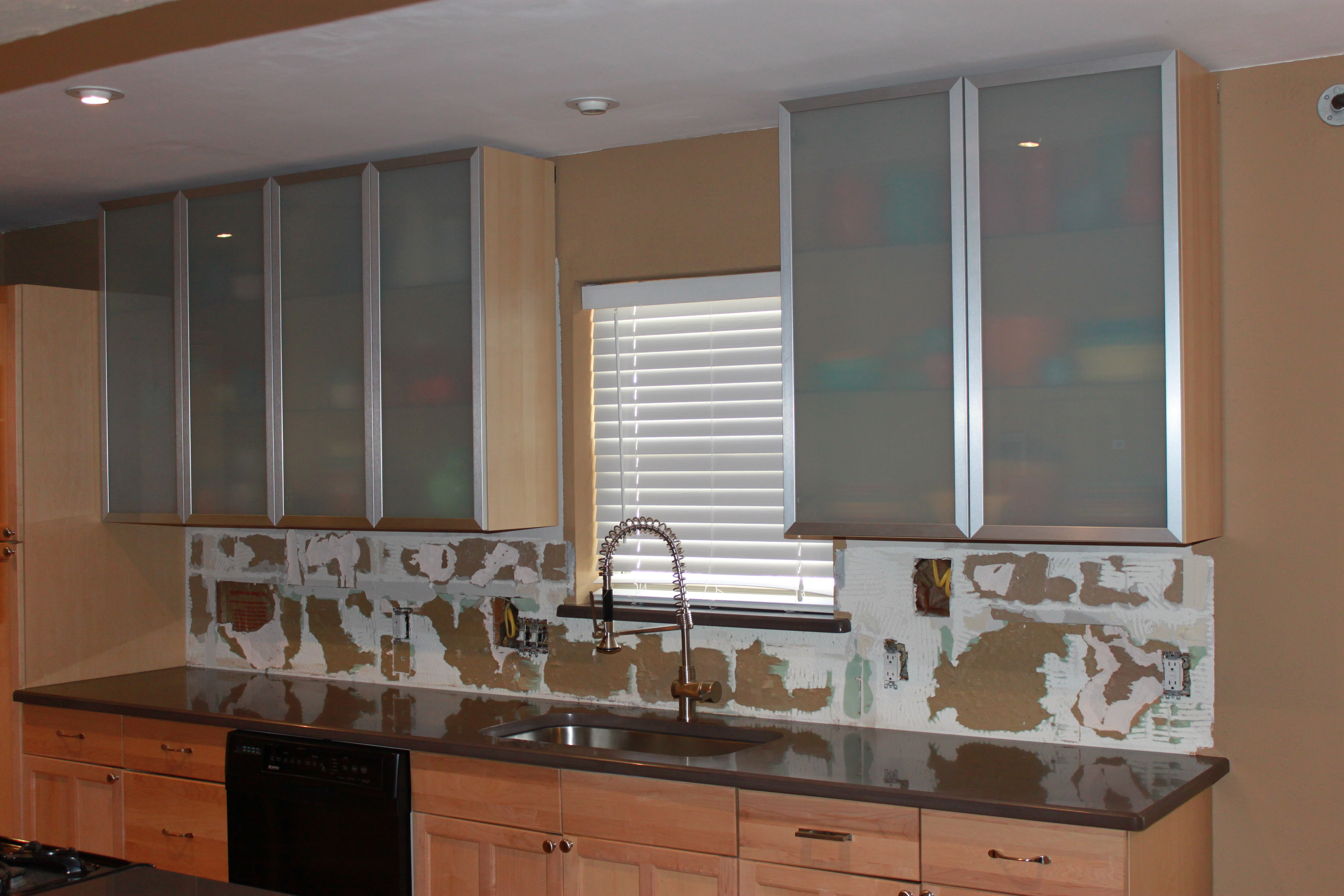 Permalink To Wall Mounted Gl Kitchen Cabinets