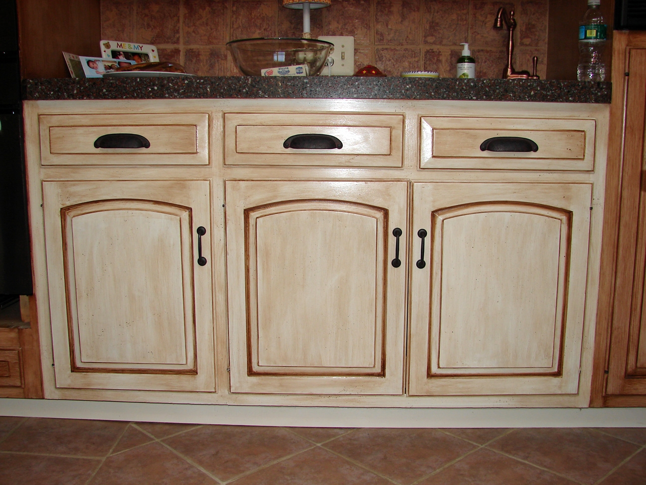 Weathered Look Kitchen Cabinets