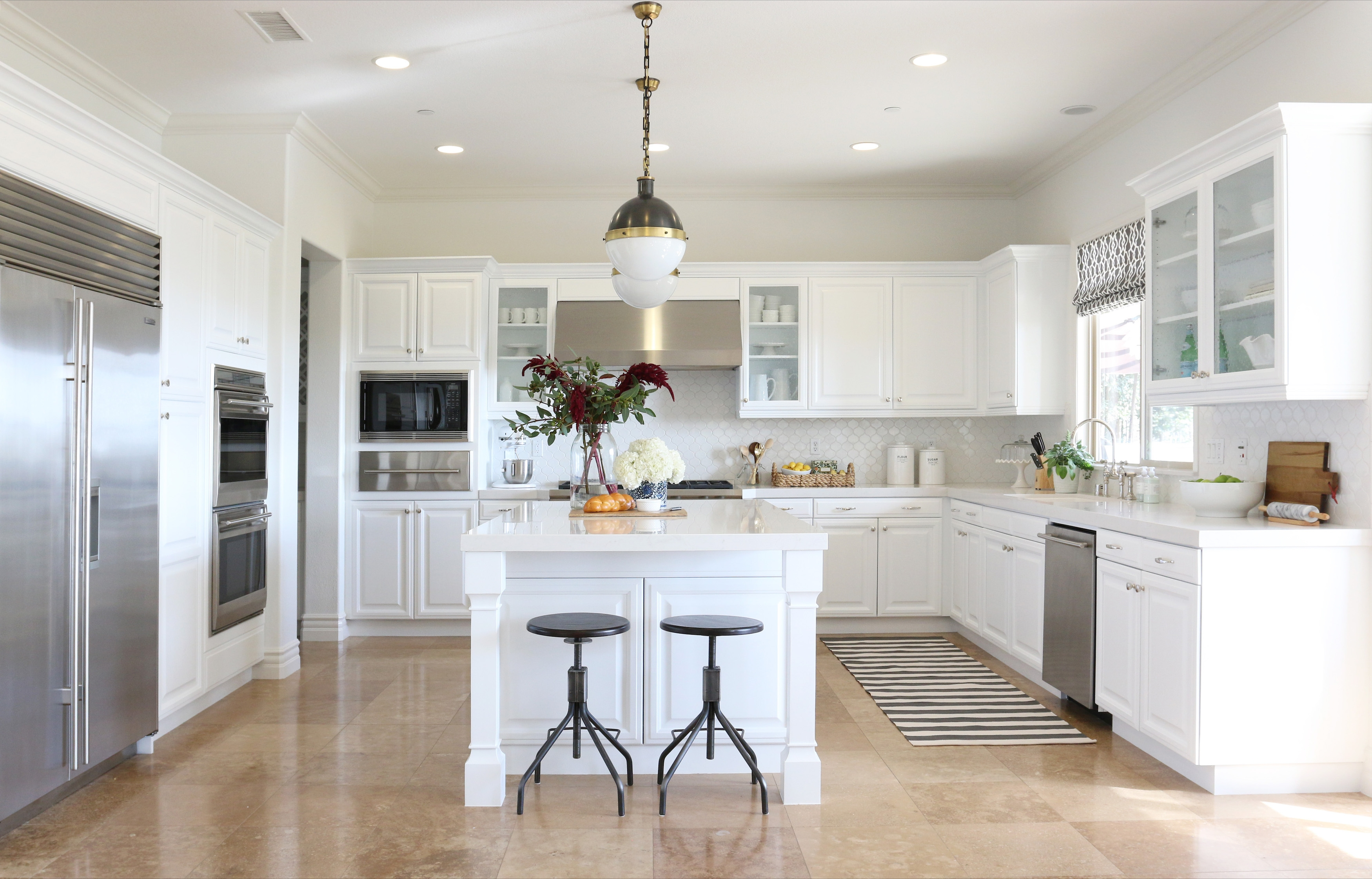 Permalink to White Cabinets Kitchen Design