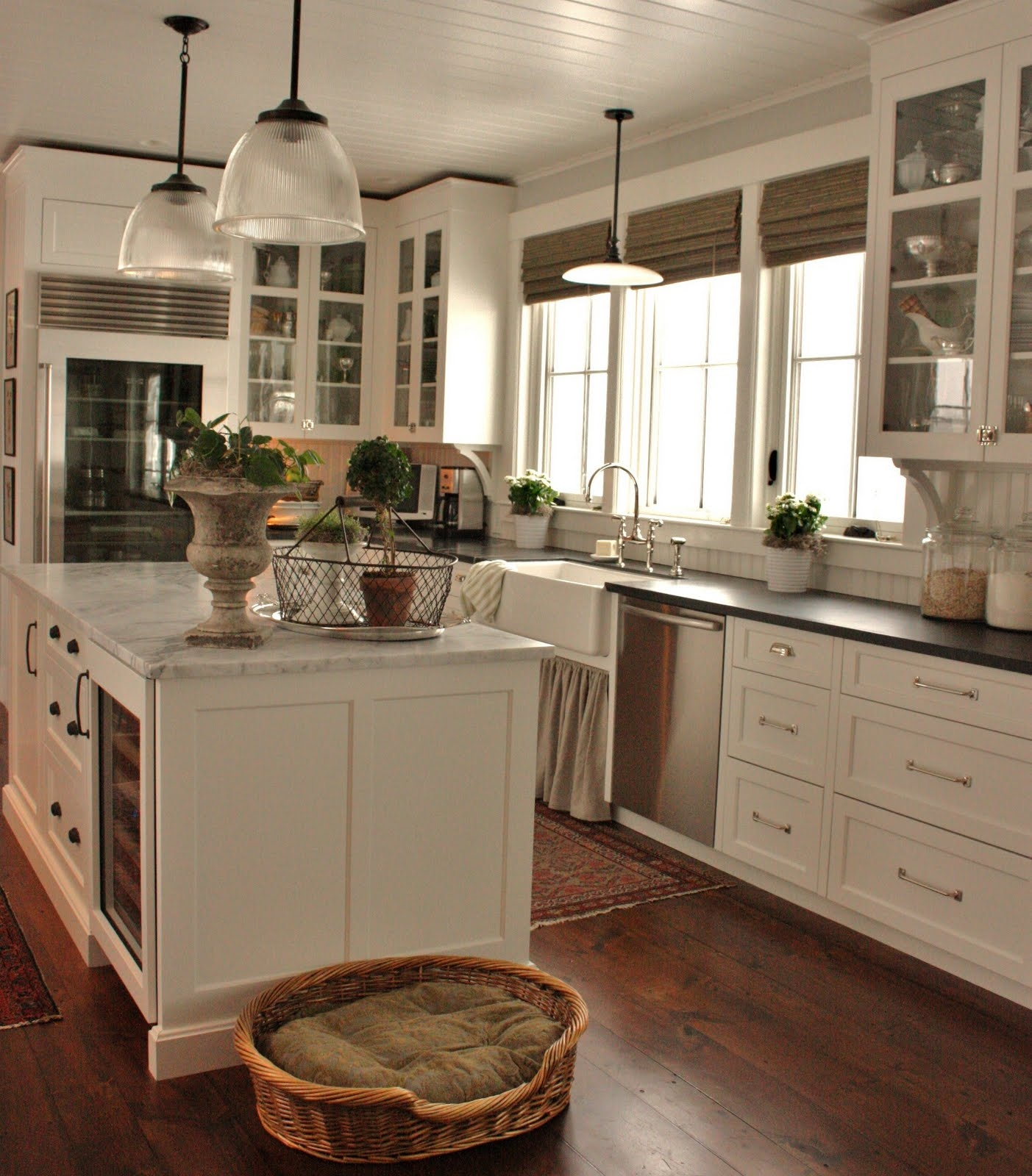 Permalink to White Farmhouse Kitchen Cabinets
