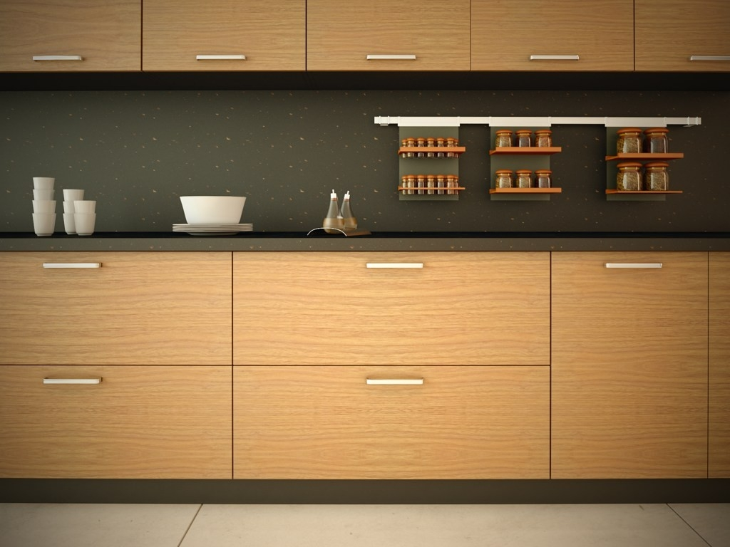 Wood Veneer Kitchen Cabinet Doors