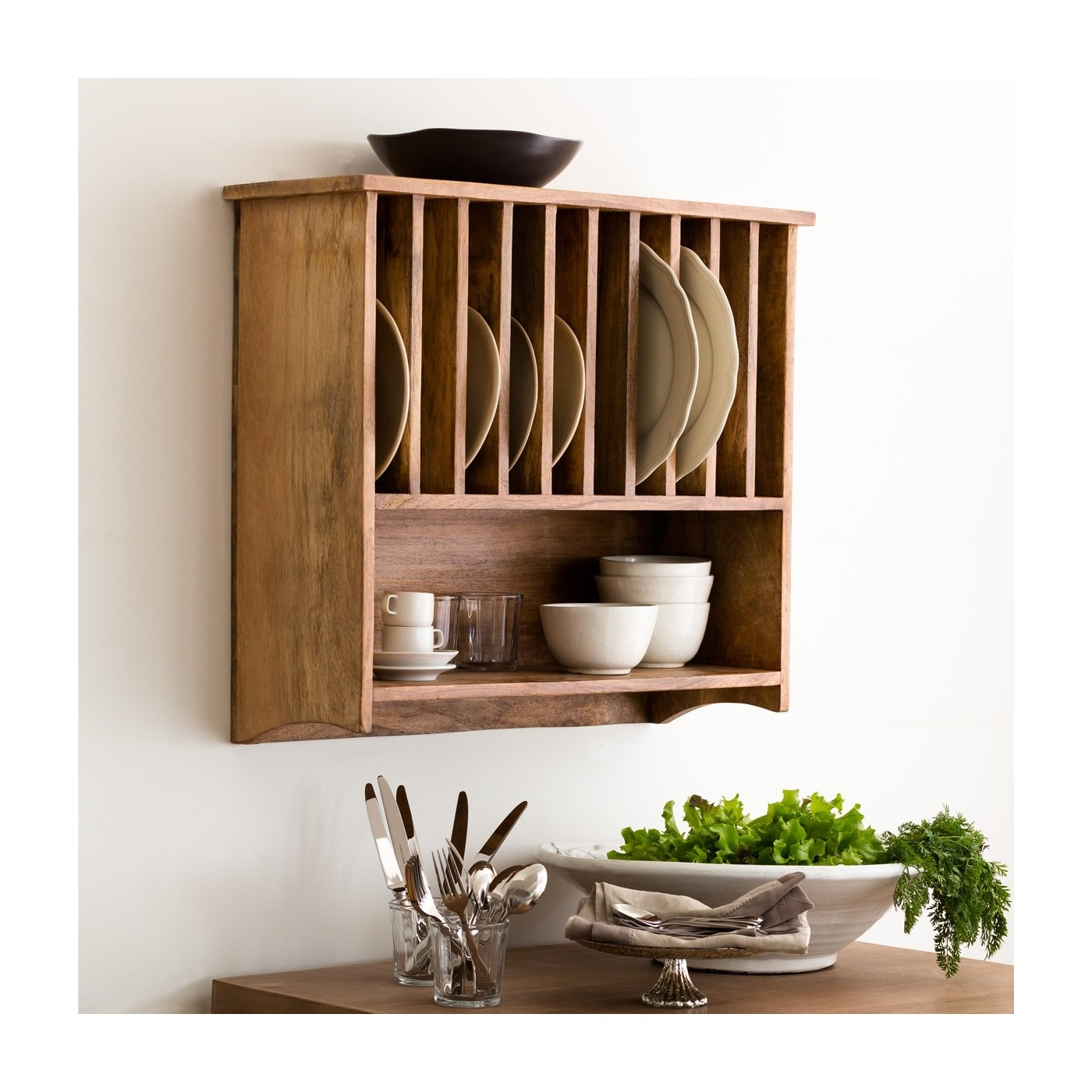 Wooden Plate Racks For Kitchen Cabinets