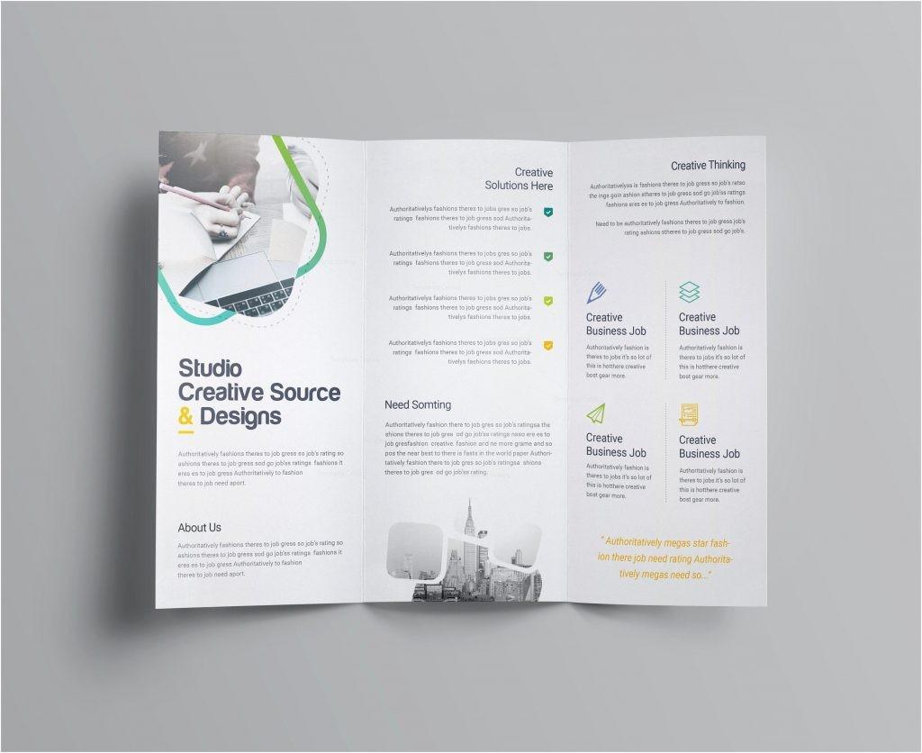 A4 3 Fold Brochure Size Inspirational Free Tri Fold Brochure