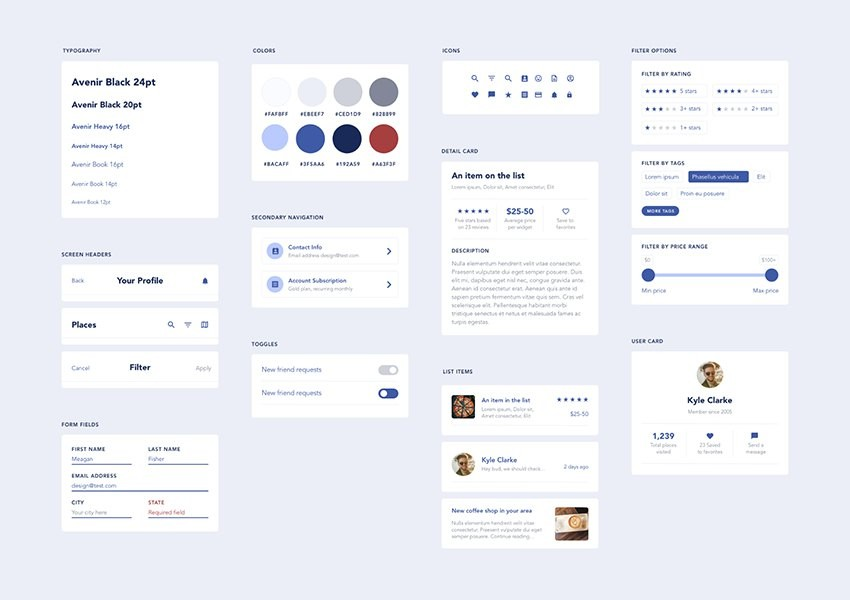 Card Design Ui Ux Elegant 20 Free Adobe Xd Ui Kits for Web