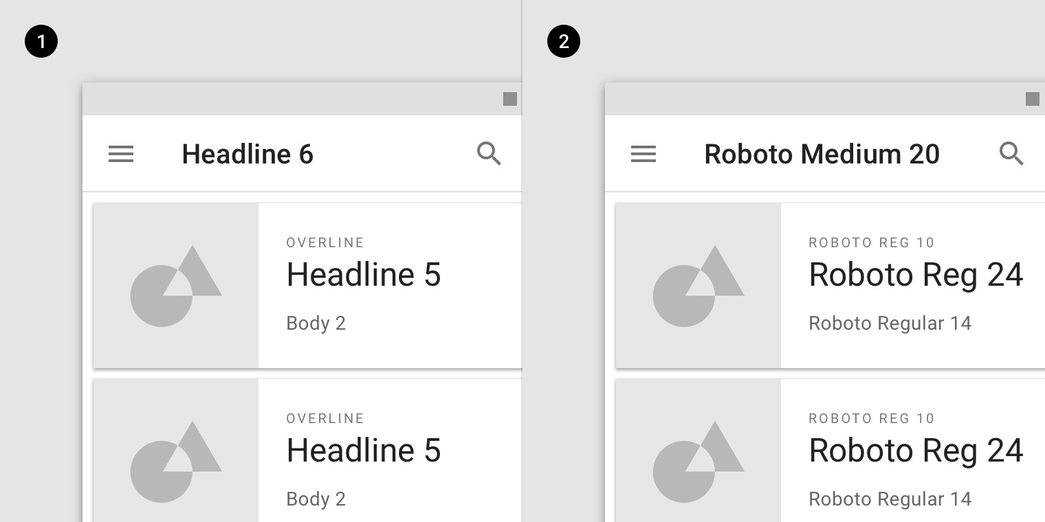 Card View android Ui Best Of the Type System Material Design