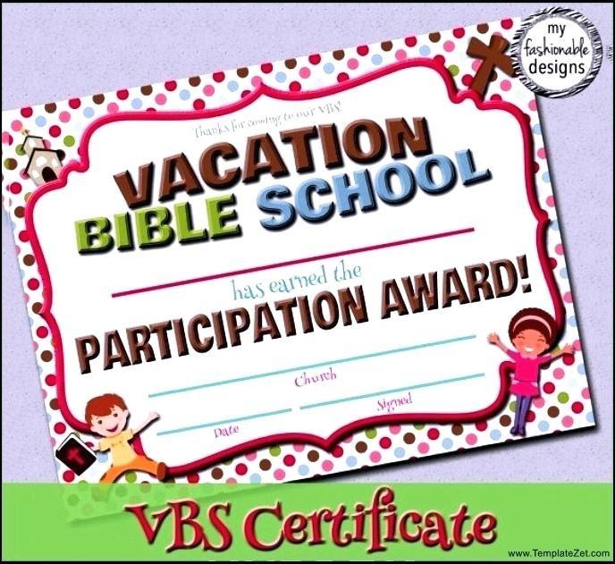 Bible School Certificates Templates