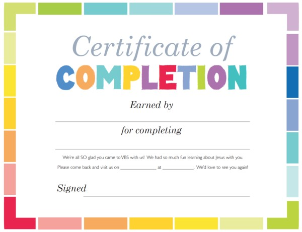 picture regarding Printable Certificates of Completion identified as Blank Certificates Of Completion Fresh Printable Certificates