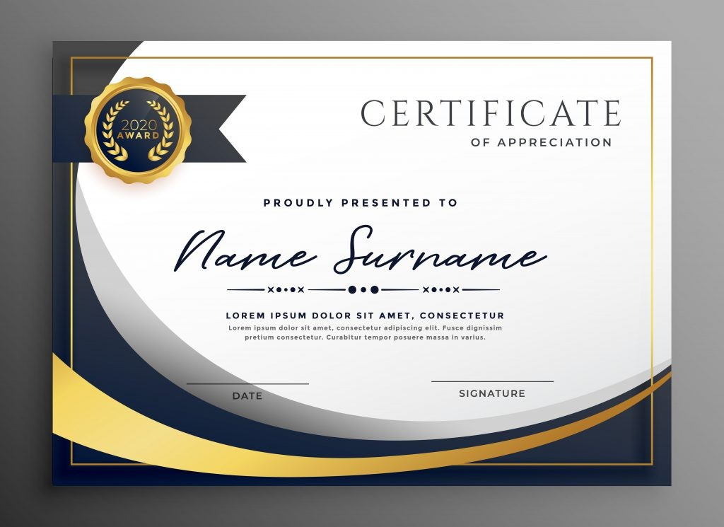 Certificate Template Psd Free Download Cool Certificate