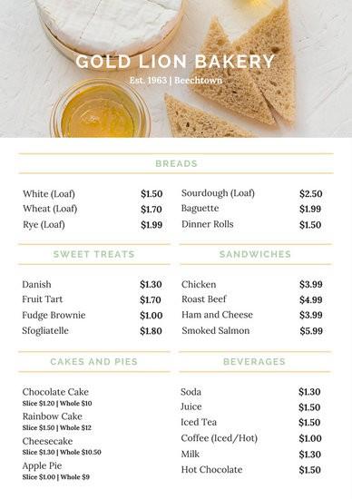 Checklist Template Canva Unique Cake Price List Template