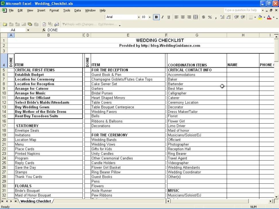 Free Wedding Checklist Template Pdf Elegant Printable Password List