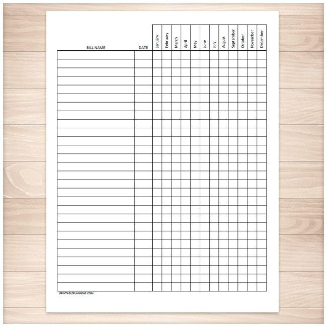 photograph relating to Printable Bill Pay Checklist identified as Printable Monthly bill Pay back Record Template Appealing Monthly bill Charge