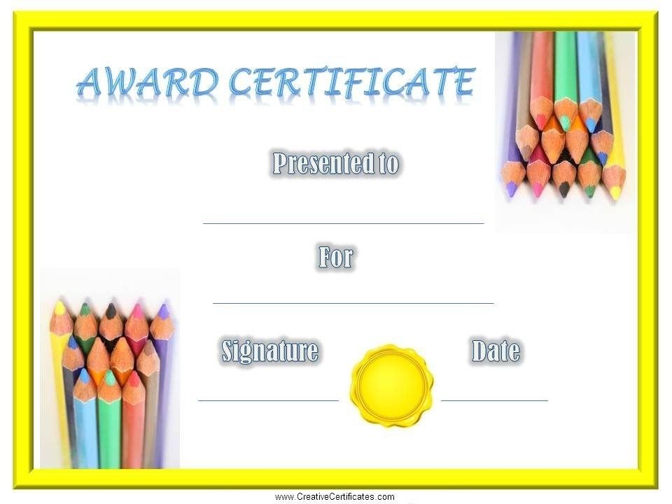 image relating to Free Printable Certificates for Kids identify Printable Certification Template for Small children Fresh Free of charge Printable