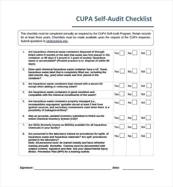 Sample 5s Audit Checklist Unique 9 Human Resource Audit Hr Checklist