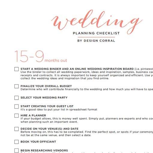 Wedding Checklist Design Cool Printable Wedding Planning