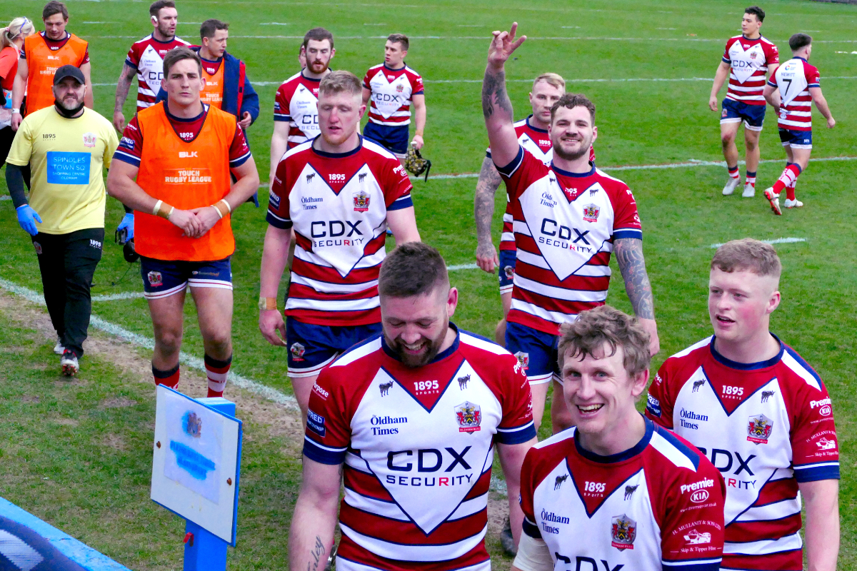 Oldham leave the field happy with their win